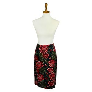 Premise Dark Floral Pencil Skirt 10